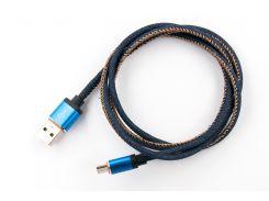Кабель заряда и синхронизации, micro-USB, круглый 1м., нитка,(JEANS) (NTK-M-MT-JEANS)