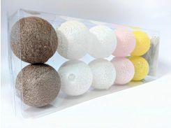 Гирлянды Cotton Balls 10led 6х180 см #4 (CB3)