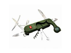 Складной карманный нож STINGER 14 в 1 Зеленый (DN18890)