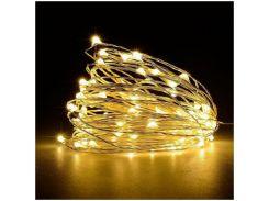 Cветодиодная гирлянда Lighteer Technology Limited 5 м 50 led на батарейках Gold (000001178)