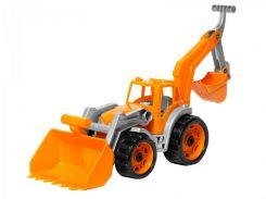 Трактор ТехноК 3671 с двумя ковшами Оранжевый (223281)