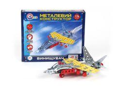 Конструктор ТехноК Истребитель металлический 4937 (222428)
