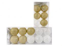 Гирлянда тайские шарики Lighteer Technology Limited Decorino GoldWhite Cotton Balls 10led 6х235см на батарейках АА (hub_SJZw63944)