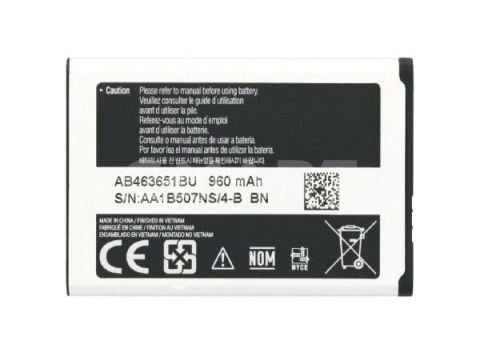 Аккумулятор Samsung AB463651BU 960 mAh S5610, S3650 high copy Одесса