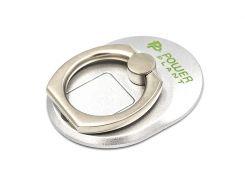 Кольцо держатель для смартфонов PowerPlant, серебристый