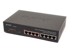 Гигабитный коммутатор для дома и малого офиса Planet GSD-804P-EU (8-Port 10/100/1000Mbps with 4-Port