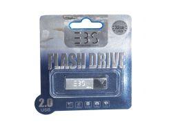 Usb flash drive 3bs 32gb 2.0 silver (3bs32gb2sr)