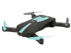 Складной квадрокоптер JUN YI TOYS JY018 дрон с камерой 0.3Mp WiFi Черно-Синий