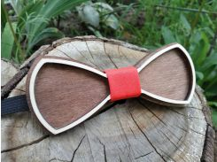 Деревянная бабочка галстук Ободок красный ручной работы, серия Fantasy