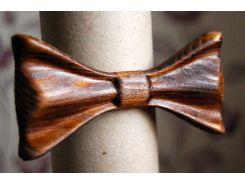 Деревянная бабочка галстук 3D Мулат - 2 ручной работы, серия Зиррикот