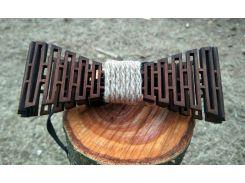Деревянная бабочка галстук Дорожка ручной работы, серия Flexion