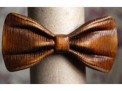 Деревянная бабочка галстук 3D Мулат ручной работы, серия Зиррикот
