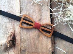 Деревянная бабочка галстук флоуресцентная ручной работы Модель №7