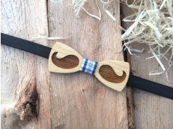 Деревянная бабочка галстук флоуресцентная ручной работы Модель №9