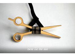 Деревянная бабочка галстук Ножницы ручной работы