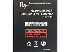 Аккумулятор для Fly Bl4027/IQ4410 1400mah Original
