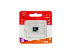 Карта памяти T&G MicroSDHC 4gb 4 class без адаптера