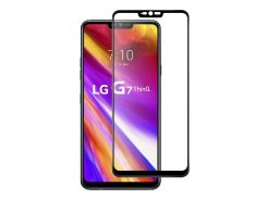 Защитное стекло Full screen PowerPlant для LG G7 ThinQ, Black