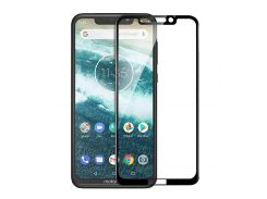 Защитное стекло Full screen PowerPlant для Motorola One Power, Black