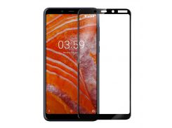 Защитное стекло Full screen PowerPlant для Nokia 3.1 Plus, Black
