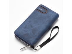 Мужской клатч портмоне BAELLERRY Jeans Young Style Мужской клатч портмоне на молнии, Синий