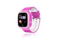 """Детские умные GPS часы Smart Baby Watch Q60 с трекером отслеживания цветной экран 1"""" (розовые) Б/У."""