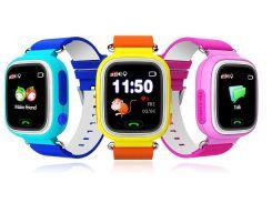 """Детские умные GPS часы Smart Baby Watch Q60 с трекером отслеживания цветной экран 1"""" (оранжевые) Б/У."""