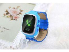 """Детские умные GPS часы Smart Baby Watch Q60 с трекером отслеживания цветной экран 1"""" (синие) Б/У."""