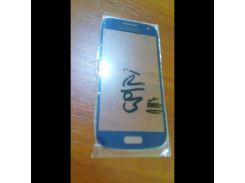 Стекло для Samsung i9190 Galaxy S4 Mini тёмно-синее copy AAA