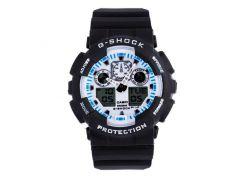 Неубиваемые спортивные наручные часы Casio G-shock GA-100 разных цветов Белый Белый Черный