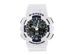 Неубиваемые спортивные наручные часы Casio G-shock GA-100 разных цветов Белый Белый Белый