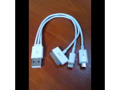 Зарядка кабель usb Apple Iphone 4s/5s/P1000/Micro 10 IN 1