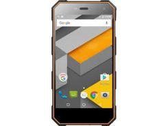 Мобильный телефон Sigma X-treme PQ24 Dual Sim Black-Orange (4827798875629) / Black Б.У. Original