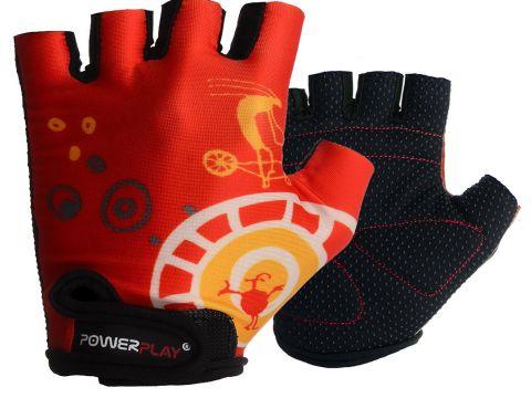 Велорукавички PowerPlay 001 B 3XS Червоні (001B_Red_3XS)