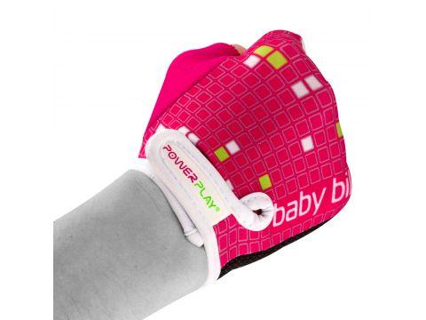 Велорукавички PowerPlay 5451 Рожево-білі 2XS (FO835451_2XS_Pink-White)
