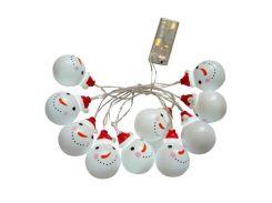 Гирлянда Supretto Снеговички 10 LED Белый (5342-0001)