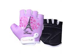 Велорукавички PowerPlay 001 Париж фіолетові S