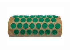 Массажный полувалик акупунктурный Onhillsport Lounge 24 х 11 х 6 см Зеленый (LS-1003-2)