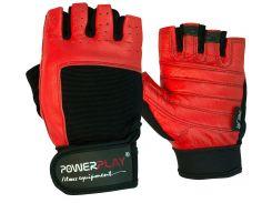 Рукавички для фітнесу PowerPlay 1588 A Чорно-Червоні S (FO83PP_1588A_S_Black/Red)
