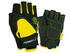 Рукавички для фітнесу PowerPlay 1728 D жіночі Чорно-Жовті XS (FO83PP_1728D_XS_Black/Yellow)