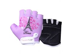 Велорукавички PowerPlay 001 Париж фіолетові S (FO83001_Purple_Paris_S)