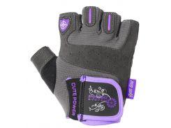 Перчатки для фитнеса и тяжелой атлетики Power System Cute Power PS-2560 женские Purple XL (VZ55PS-2560_XL_Purple)