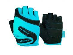 Рукавички для фітнесу PowerPlay 1729 A жіночі Блакитні M (FO83PP_1729A_M_Blue)