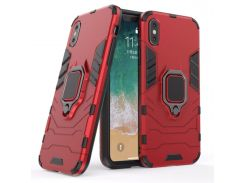 Чехол Ring Armor для Apple iPhone X Красный (hub_soKQ91995)