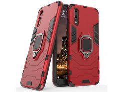 Чехол Ring Armor для Huawei P20 Красный (hub_bnNw60393)