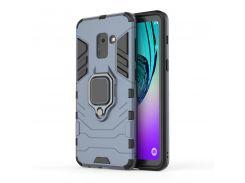 Чехол Ring Armor для Samsung A530 Galaxy A8 2018 Синий (hub_NfCL20393)