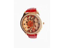 Часы кварцевые Вышиванка Красный