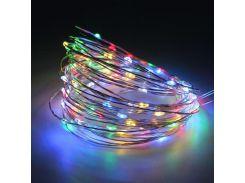 Светодиодная гирлянда Lighteer Technology Limited 10 м 100 led на батарейках Разноцветная (hub_OgWI92954)