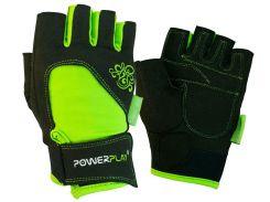 Рукавички для фітнесу PowerPlay 1728 XS Чорно-зелені (PP_1728_XS_Black/Green)