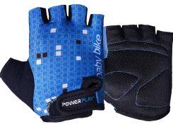 Велорукавички PowerPlay 5451 2XS Синьо-білі (5451_2XS_Blue-White)